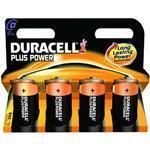 Duracell Plus Power D Size 4 Pack